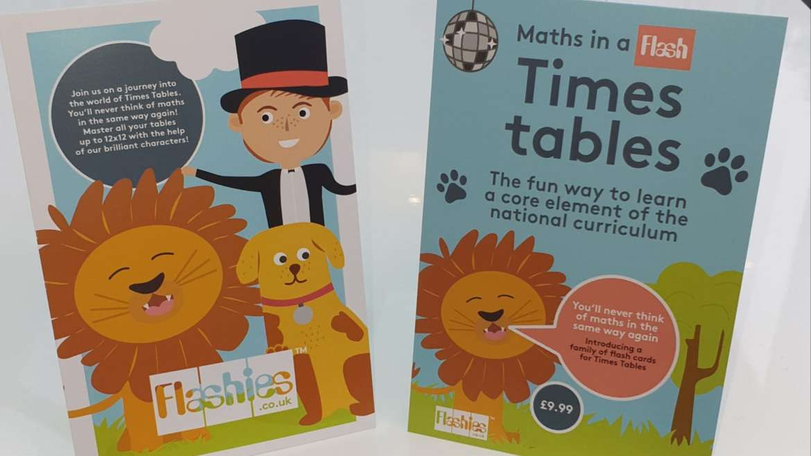 Introducing Flashies Times Table flash cards
